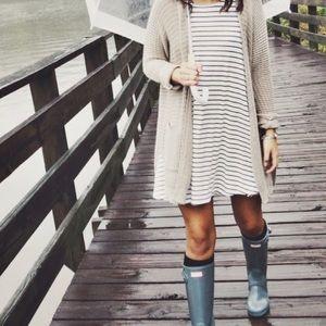 LA Hearts Striped Swing dress